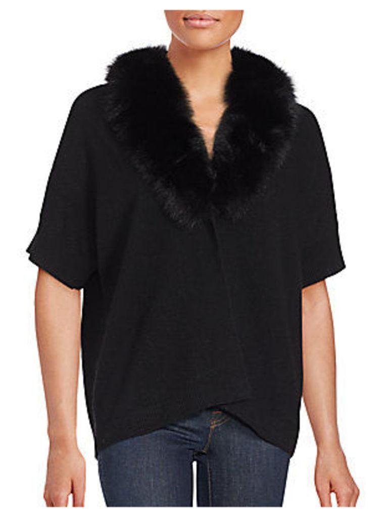 Fox Fur Short Sleeve Sweater