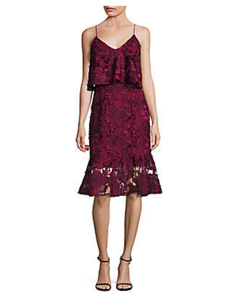 Alyssa Ruffled Midi Dress