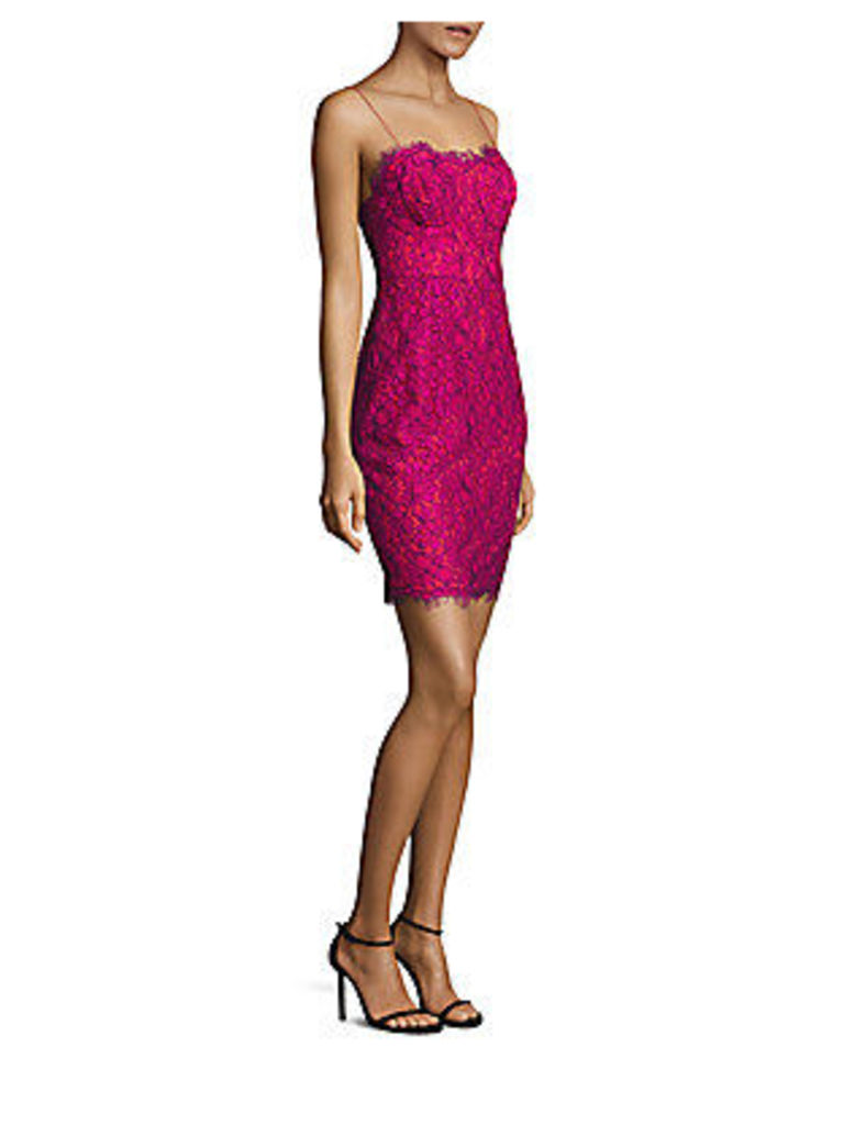 Spruce Body-Con Lace Dress