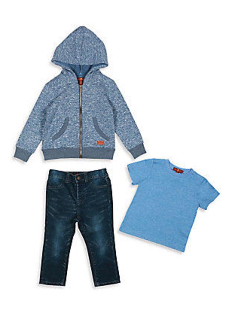 Baby's & Toddler Boy's Three-Piece Hoodie, Tee & Straight-Leg Jeans Set