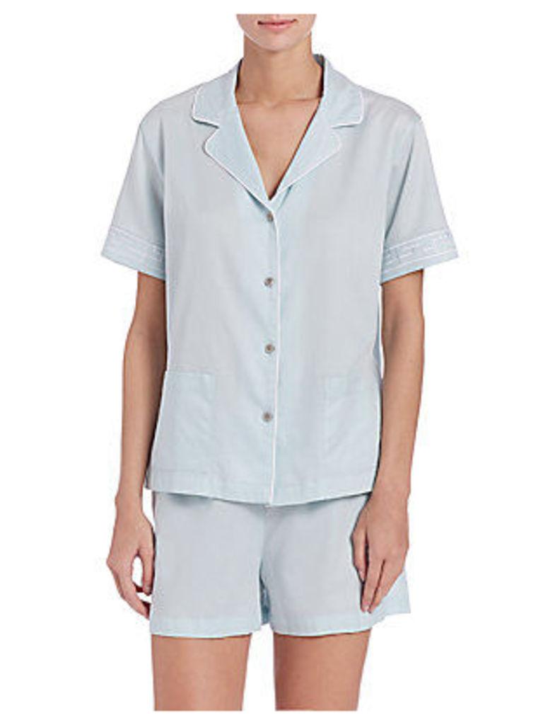 Cotton Sateen Short Pajamas