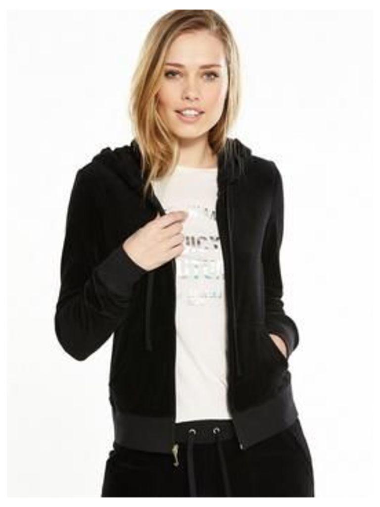 Juicy Couture Juicy Couture Trk Velour Robertson Jacket, Pitch Black, Size L, Women