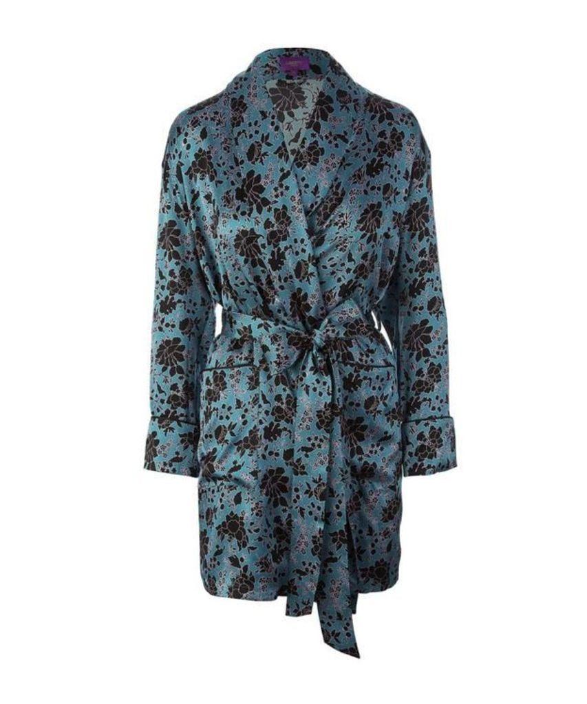 Christelle Short Silk Robe