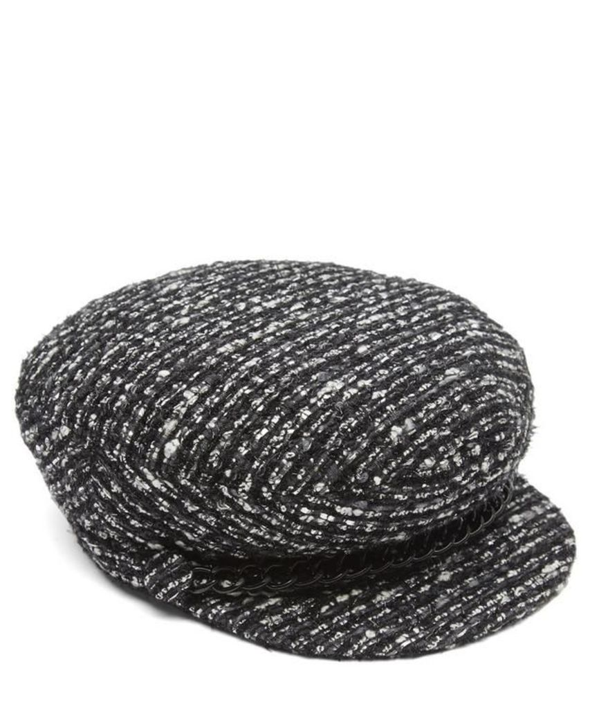 Marina Woven Flat Cap