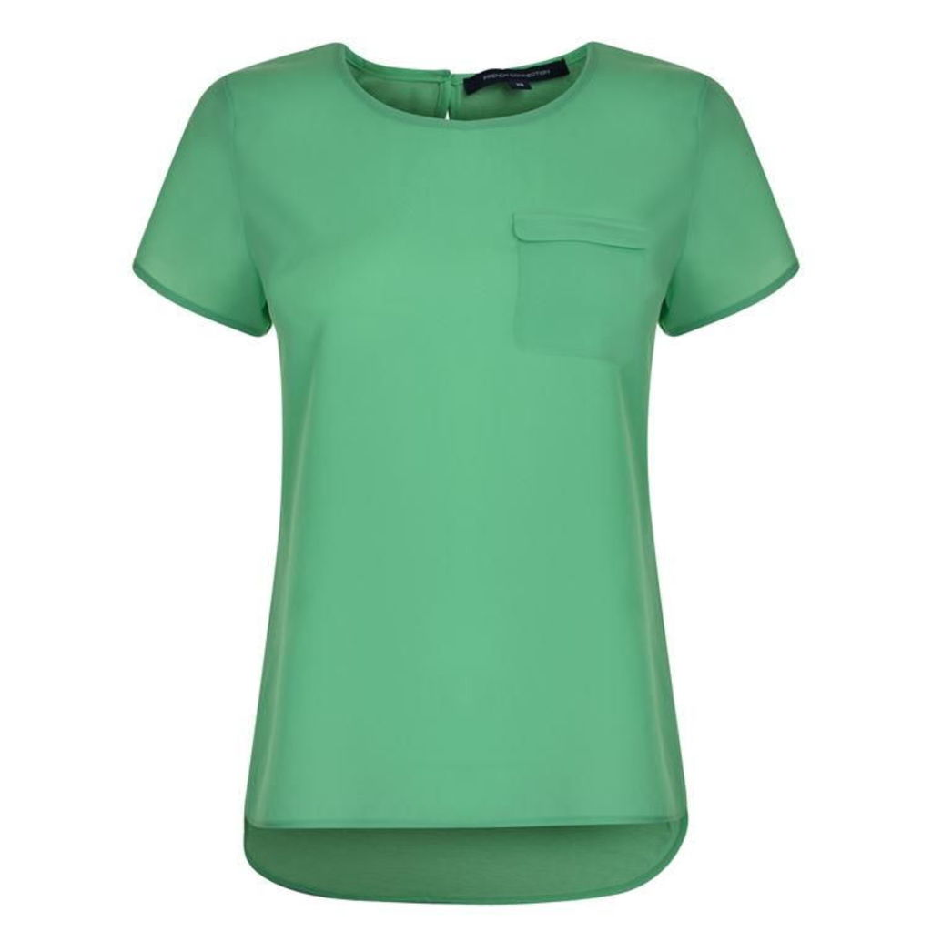 FRENCH CONNECTION Dip Hem Polly T Shirt
