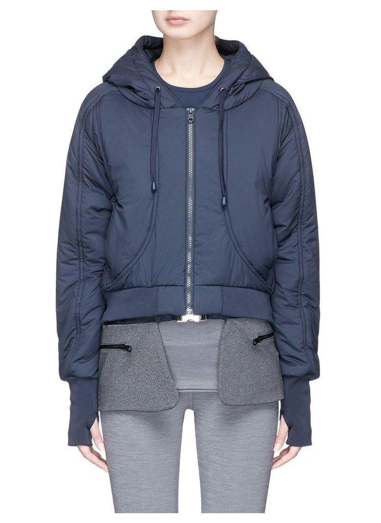 Detachable hem cropped puffer jacket
