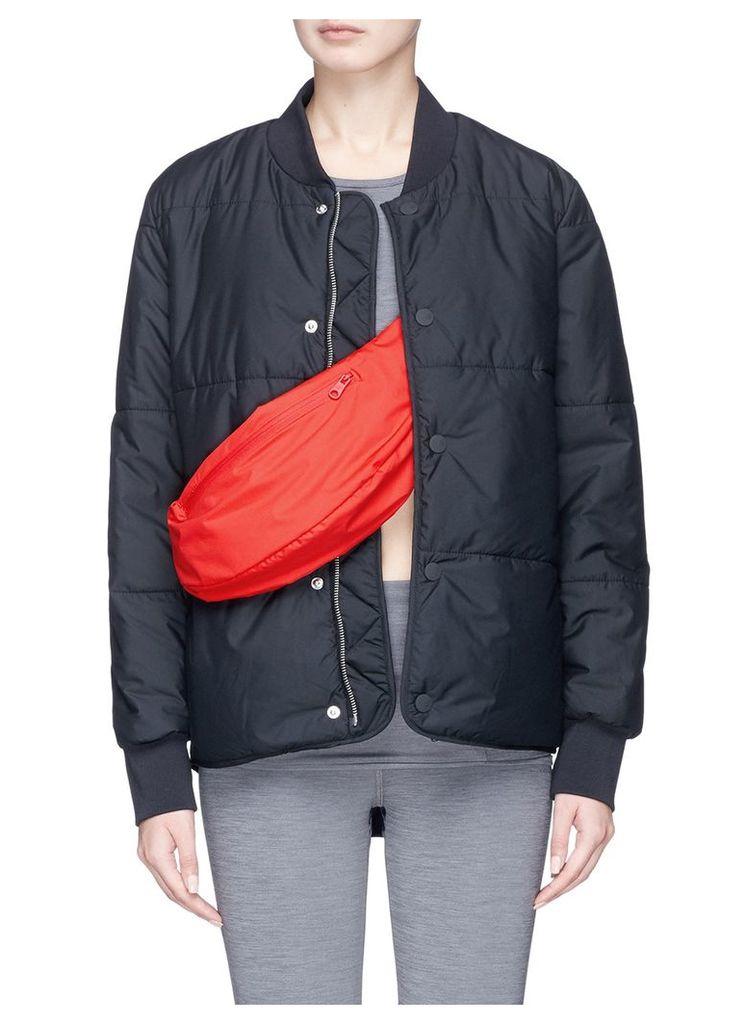 Detachable zip pouch rainproof padded jacket
