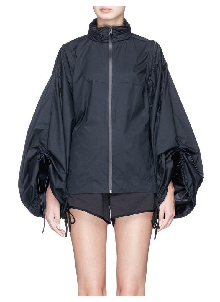 Convertible puffed sleeve rainproof jacket