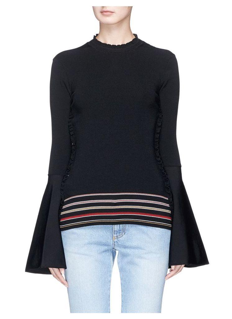 'Midori' ruffle outseam knit sweater