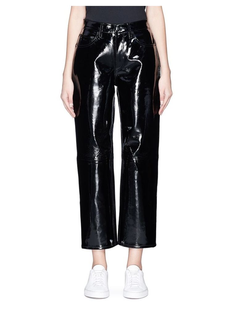 Patent leather pants