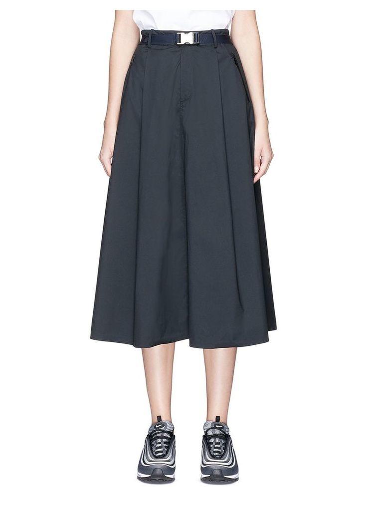 Quick-release buckle rainproof midi skirt