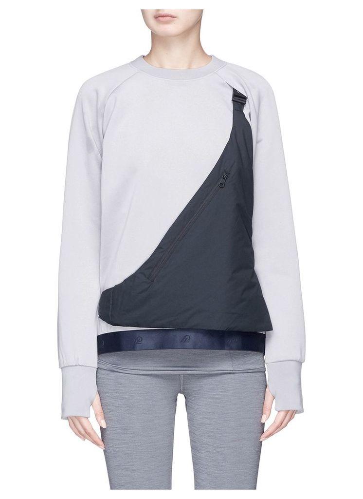 Detachable zip pouch sweatshirt