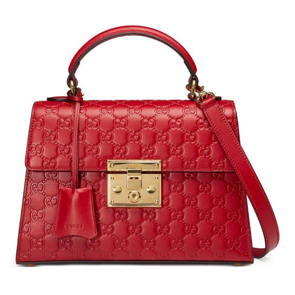 Padlock Gucci Signature top handle bag