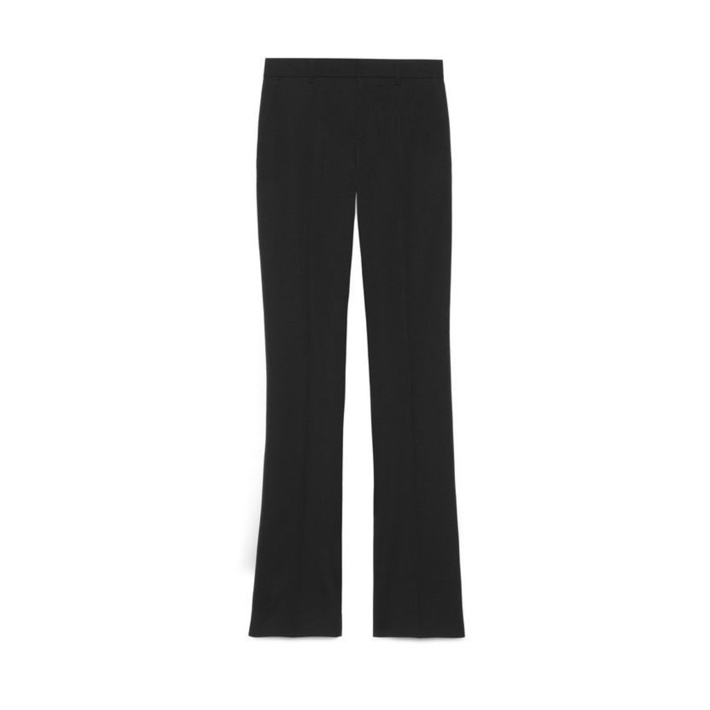 Stretch silk wool skinny flare pant