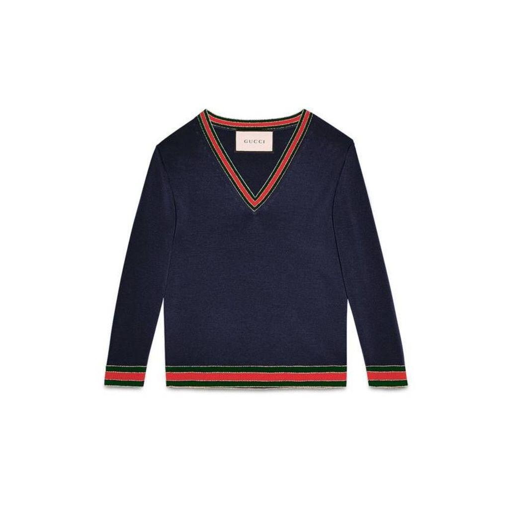 Merino wool knitted top