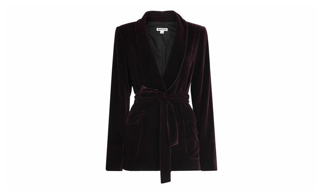 Velvet Tie Wrap Jacket