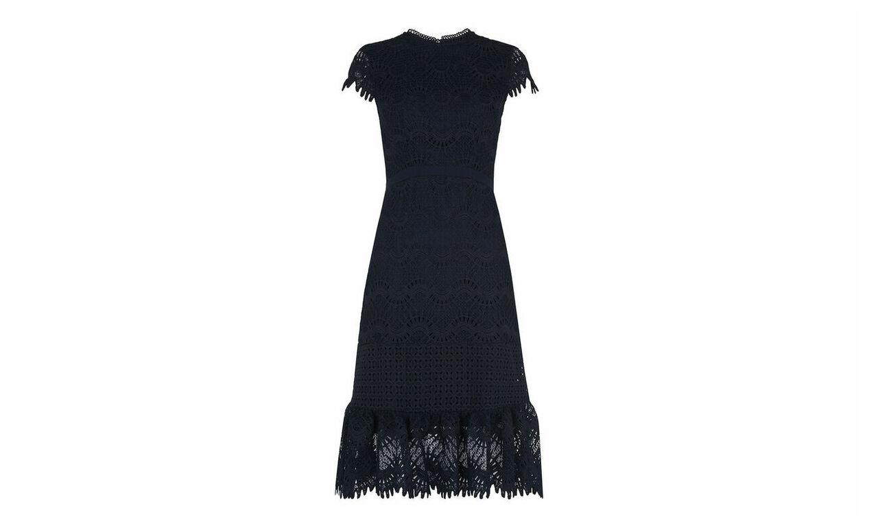 Niki Scalloped Hem Dress