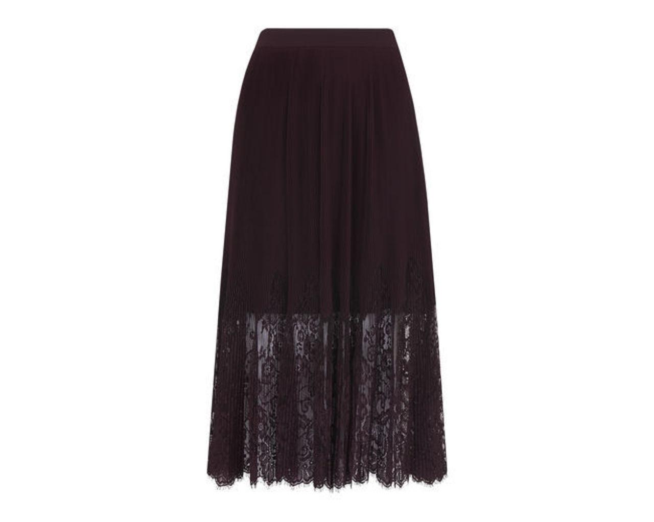 Lillian Pleated Lace Skirt