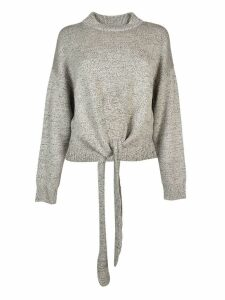 Jil Sander Crew Neck Wrapped Hem Jumper