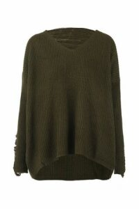 Distressed Knit Jumper