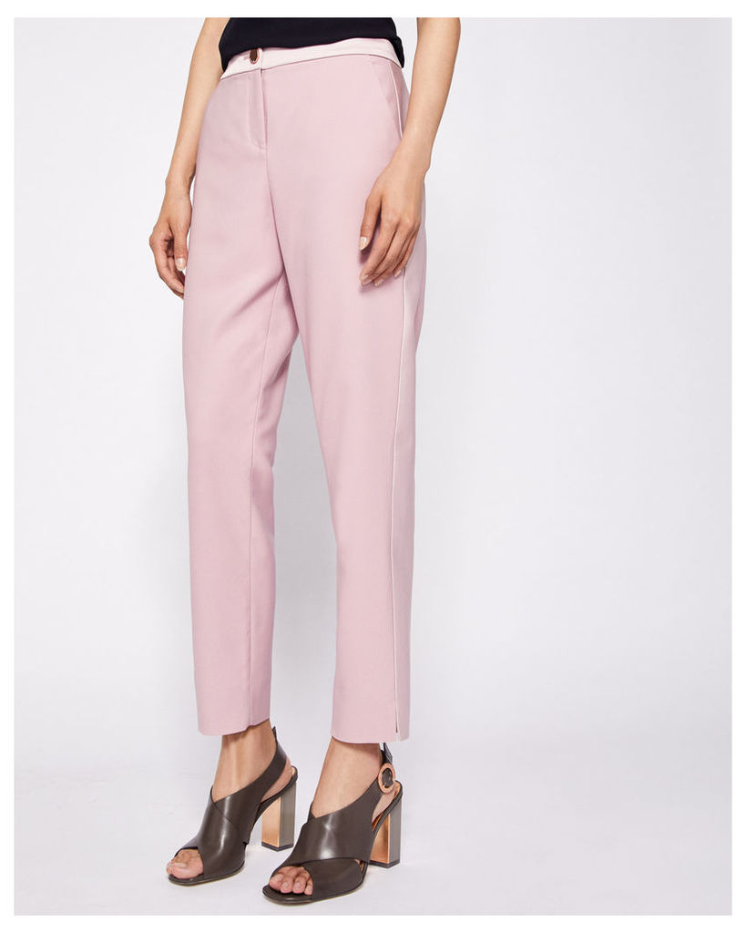 Ted Baker Contrast panel tapered trousers Dusky Pink