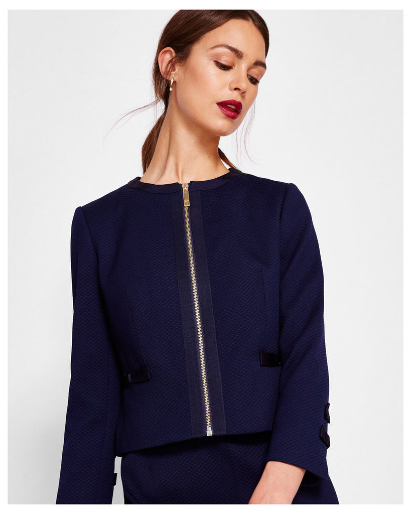 Ted Baker Cropped bow detail jacket Navy