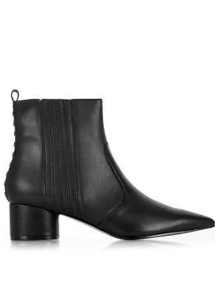 Kendall + Kylie Laila Leather Pointed Chelsea Boots - Black