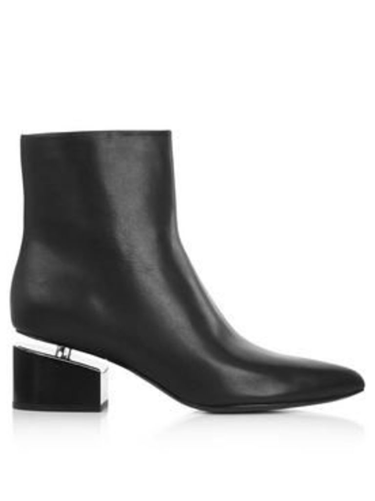 Alexander Wang Jude Black Calf Ankle Boots- Black