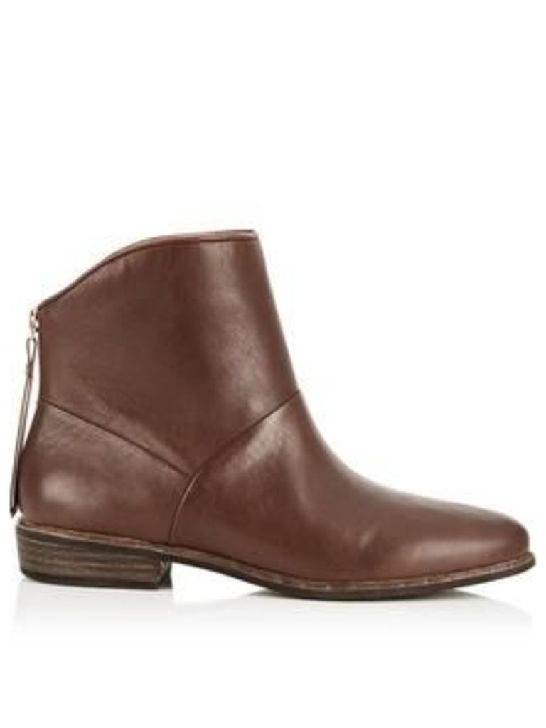 Ugg Bruno Leather Ankle Boots - Brown