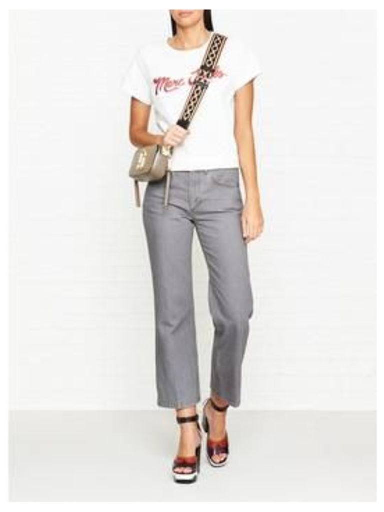 Marc Jacobs Cropped Denim Pant Trousers- Grey