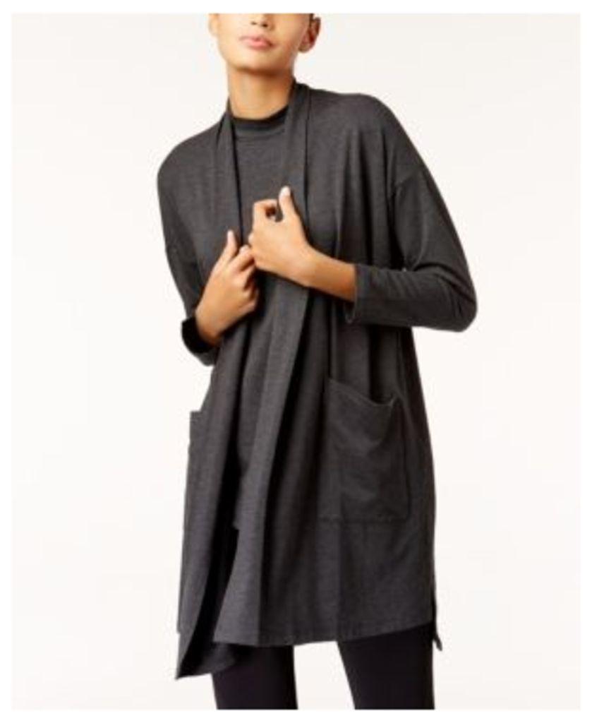 Eileen Fisher Cozy Jersey Long Kimono Cardigan