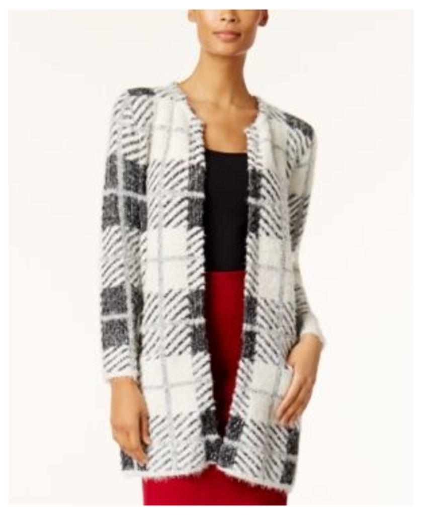 August Silk Printed Sweater Jacket