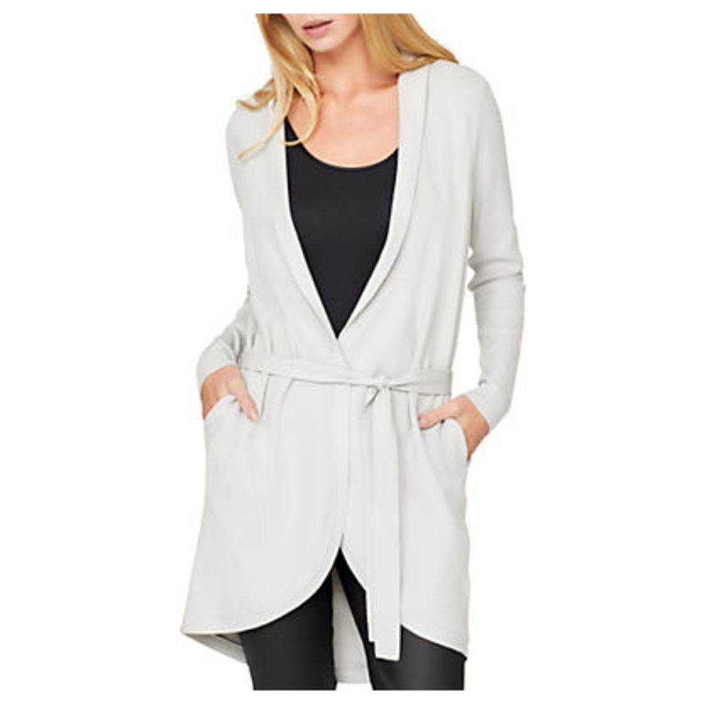 Damsel in a dress Detachable Faux Fur Collar Cardigan, Winter White