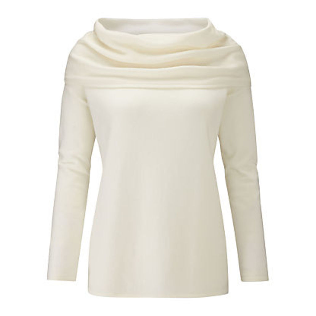 Pure Collection Cashmere Wide Bardot Jumper