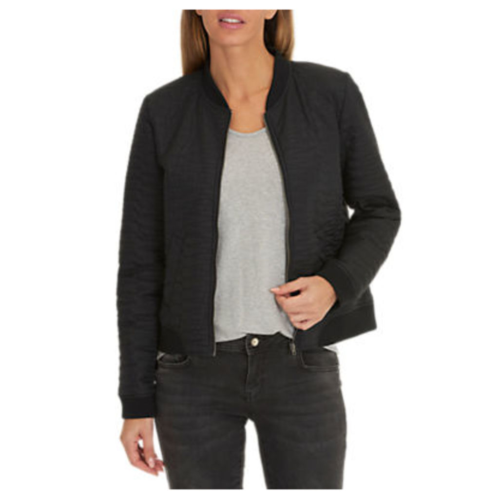 Betty & Co. Quilted Bomber Jacket, Black