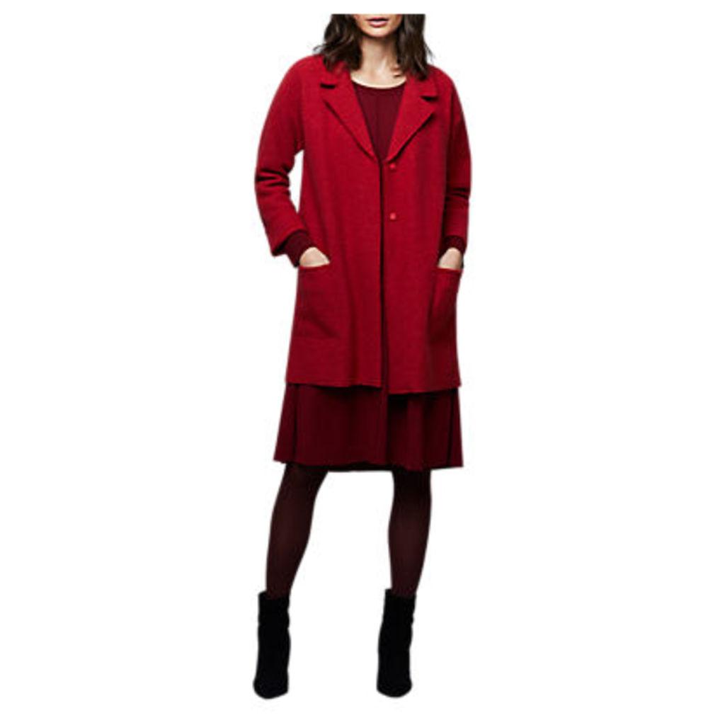 East Boiled Wool Longline Coat, Ginger