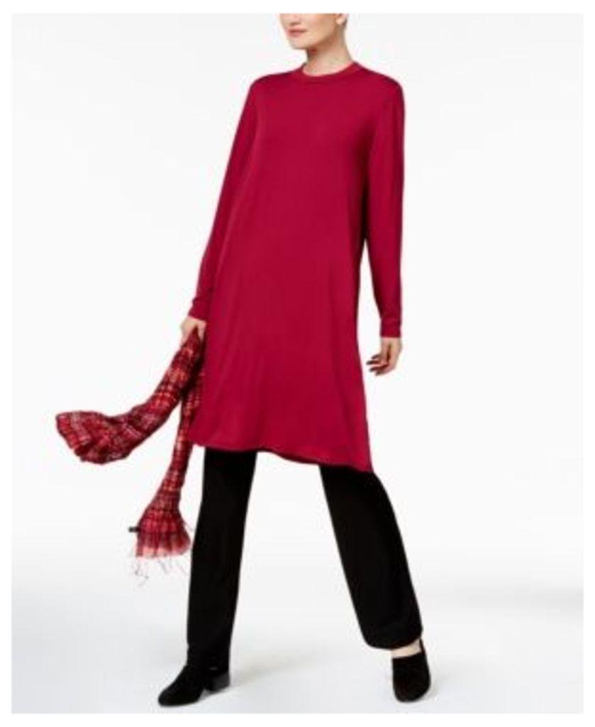 Eileen Fisher Stretch Jersey Mock-Neck Caftan Tunic