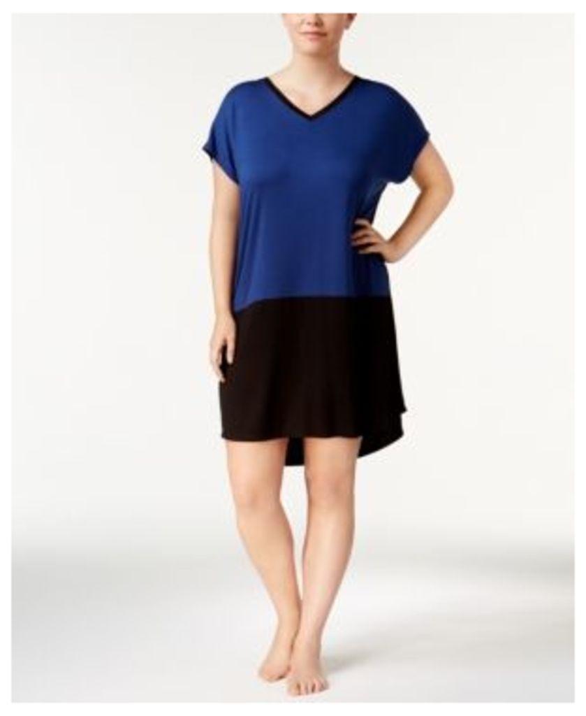Alfani Plus Size Colorblocked Sleepshirt, Created for Macy's
