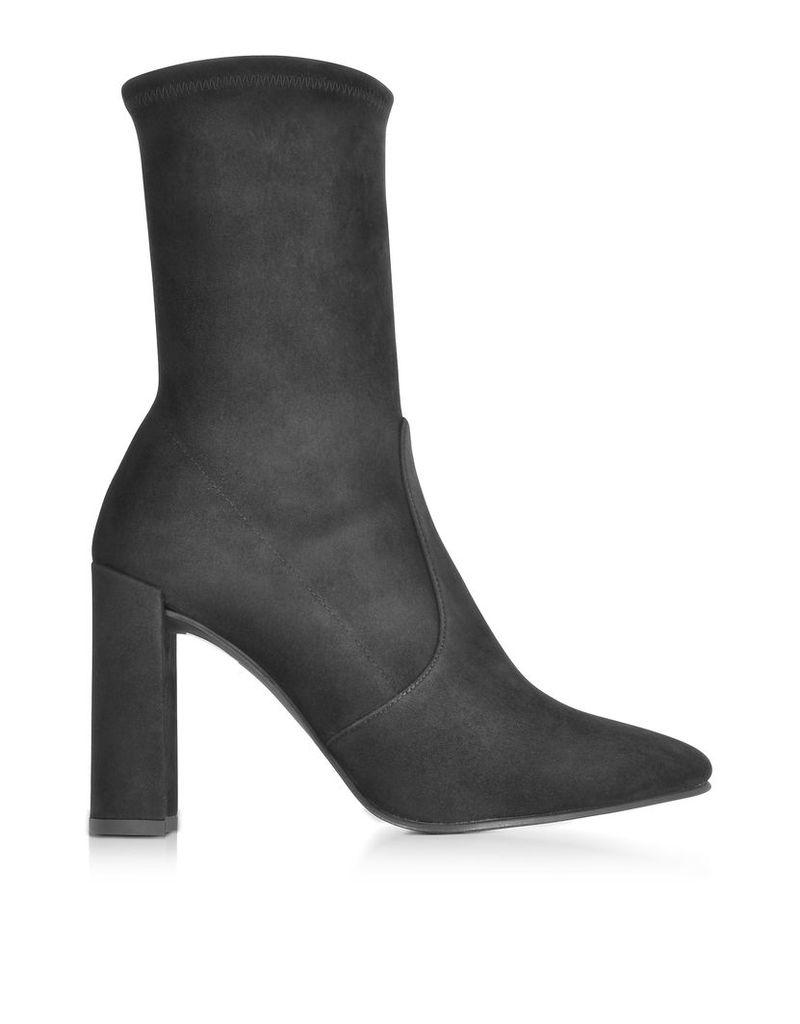 Stuart Weitzman Shoes, Clinger Black Suede High Heel Booties