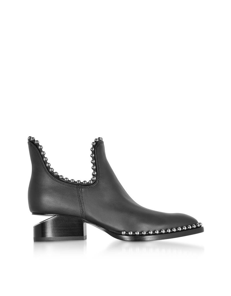 Alexander Wang Shoes, Kori Black Leather Cut Out Booties