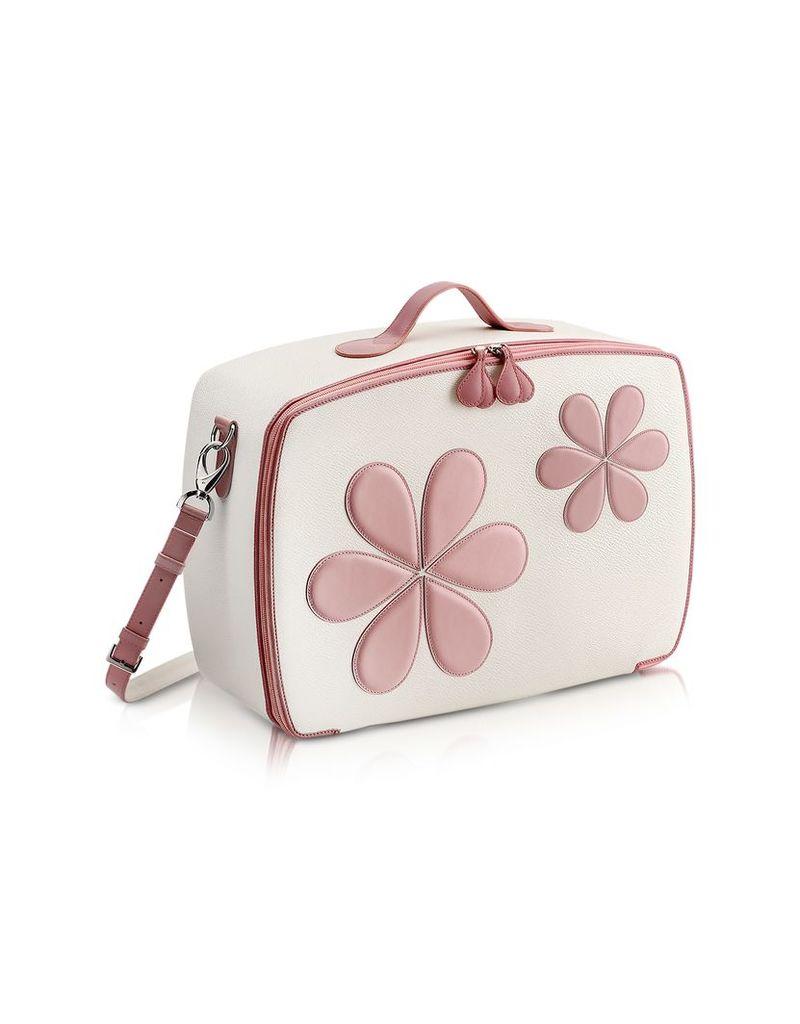 Pineider Travel Bags, Pink Flower Mini Travel Bag