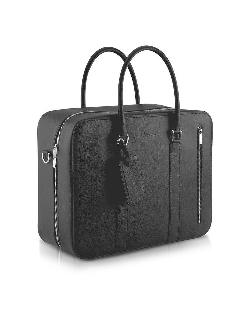 Pineider Briefcases, City Chic - Double Handle Calfskin Briefcase