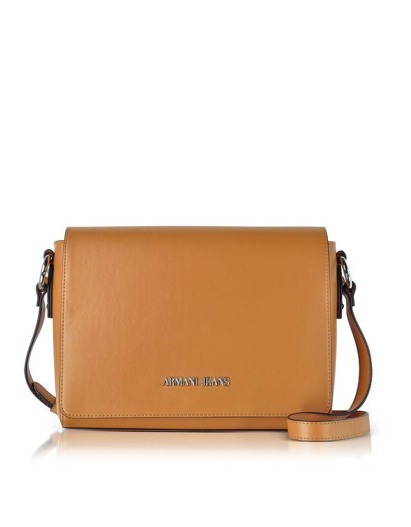 Armani Jeans Handbags, Pumpkin Eco Leather Signature Medium Shoulder Bag