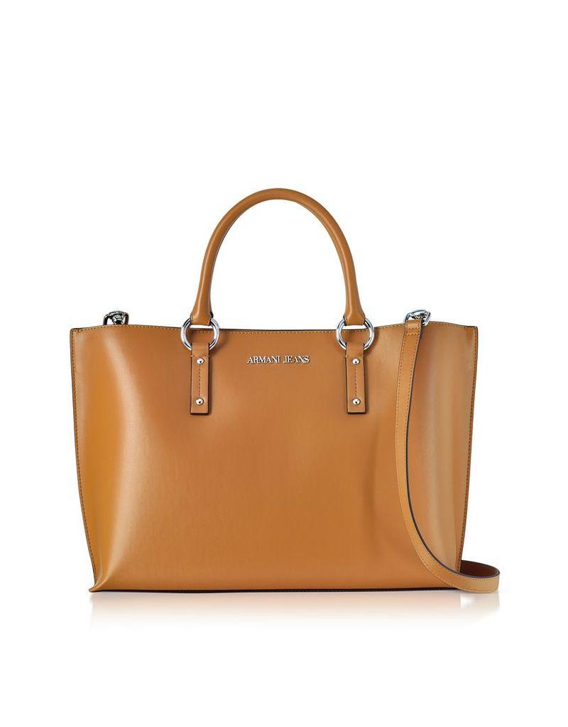 Armani Jeans Handbags, Pumpkin Eco Leather Signature Signature Tote Bag
