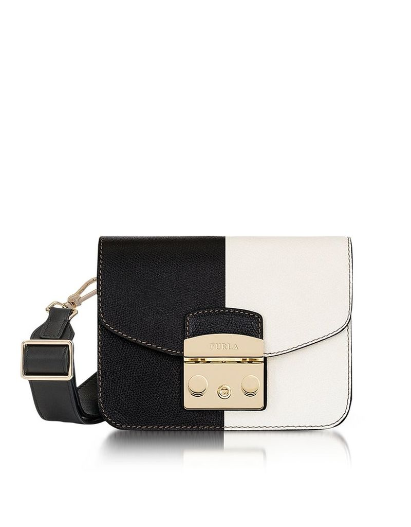 Furla Handbags, Onyx and Petalo Color Block Metropolis Mini Crossbody Bag
