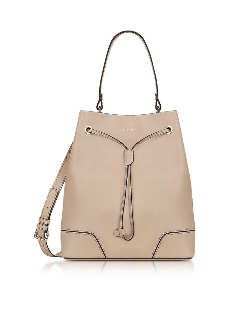 Furla Handbags, Stacy M Acero Leather Bucket Bag