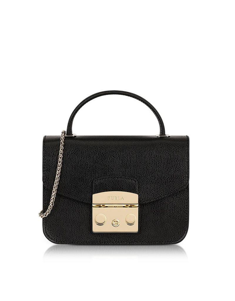 Furla Handbags, Onyx Metropolis Mini Top Handle Crossbody Bag