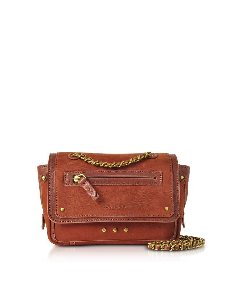Jerome Dreyfuss Handbags, Benji Rust Nubuck and Leather Mini Crossbody Bag