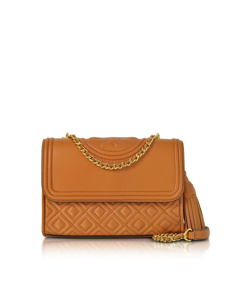 Tory Burch Handbags, Fleming Party Light Marsala Leather Small Convertible Shoulder Bag