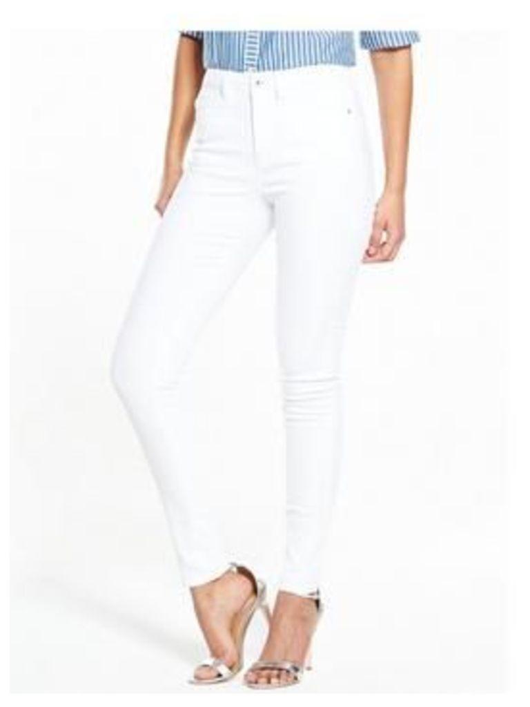 V by Very Tall High Rise Florence Skinny Jean, Powder Blue, Size 8, Inside Leg Xlong, Women